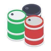 conceitos de barril de óleo vetor