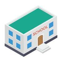 edifício acadêmico escolar vetor