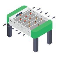 jogo de tabuleiro de pebolim vetor
