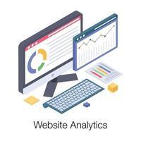 relatório de análise de site vetor