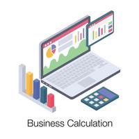 conceitos de cálculo de negócios vetor