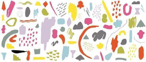 vetor de fundo abstrato com artes de linha de doodle naturais. padrão criativo com formas desenhadas à mão. design de plano de fundo para postagem, capa, impressão e papel de parede nas redes sociais