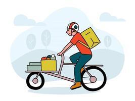 conceito de design de vetor de entrega em domicílio. rastreamento de pedidos online e conceito de serviço de entrega