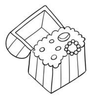ilustração vetorial dos desenhos animados do baú do tesouro vetor
