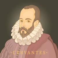 miguel de cervantes famoso escritor espanhol vetor