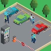 ilustração em vetor ilustração isométrica de máquina de venda automática