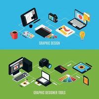 banners de design gráfico definir ilustração vetorial vetor