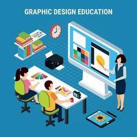 ilustração em vetor design gráfico educação