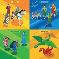 ilustração em vetor conceito de design de cavaleiros de caça