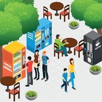 ilustração em vetor composição de máquinas de venda automática