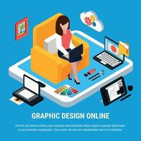 ilustração em vetor conceito design gráfico