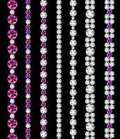 ilustração vetorial de bordas realistas de diamante vetor