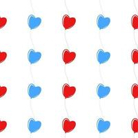 padrão sem emenda de cor de balões. ilustração plana simples em fundo branco vetor