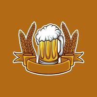 ilustração vetorial de caneca de cerveja vetor
