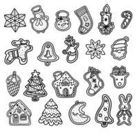 biscoitos de gengibre em estilo doodle. biscoitos de gengibre, salgadinhos de gengibre. ilustração vetorial vetor