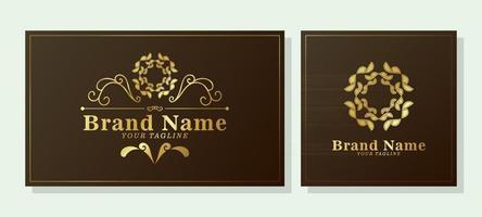 logotipo ornamental retrô elegante vetor