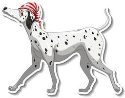 desenho de adesivo com cachorro dálmata isolado vetor