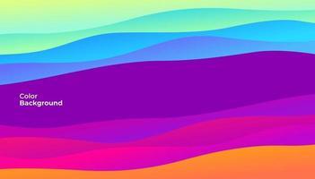 banner de curva abstrato colorido. gradiente de tendência. composição de formas fluidas. vetor