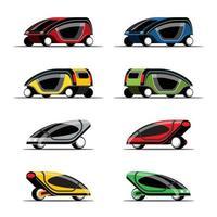 definir maquete de carro hitech em vetor de design moderno
