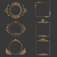 conjunto de elementos de design elegante para ilustração vetorial decorativa vetor