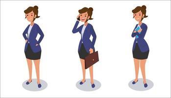 conjunto de design de personagens do empresário. vetor