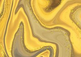 fundo de mármore líquido abstrato com glitter dourado vetor