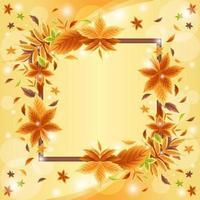 lindo fundo de borda de folhagem de outono vetor