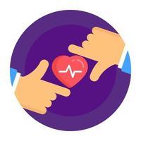 cuidado mútuo do coração vetor