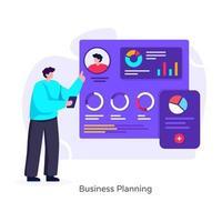 planejamento de negócios e estratégico vetor