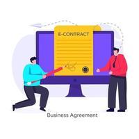 acordo comercial e contrato vetor