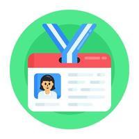 carteira de identidade e credenciais vetor