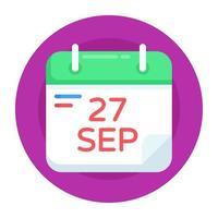 calendário e planejador vetor