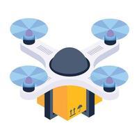 entrega de pacote drone vetor