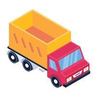 entrega de carrinha carregadora vetor