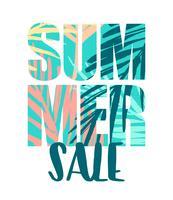 Projeto de venda de verão. Modelo de vetor