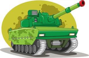 vetor de ilustração de veículo tanque