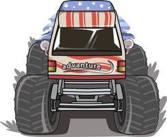 vetor de ilustração de monstro de minibus