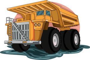 vetor de ilustração de caminhão grande construção