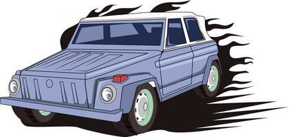 o vetor de ilustração de carro clássico
