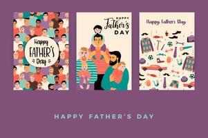 Feliz dia dos pais. Modelos de vetor. vetor