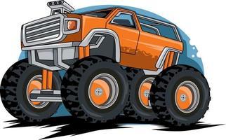 vetor de ilustração de caminhão monstro off road