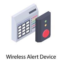 dispositivo de alerta sem fio vetor