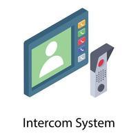 conceitos de sistema de intercomunicação vetor