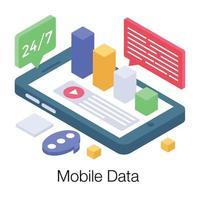conceitos de dados online vetor