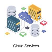 conceitos de serviços em nuvem vetor
