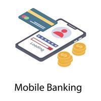conceitos de banco móvel vetor