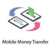 transferência de dinheiro móvel vetor