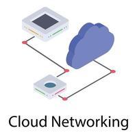 rede de computação em nuvem vetor