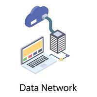 hospedagem de dados em nuvem vetor