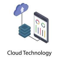 armazenamento de dados em nuvem vetor